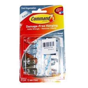 3M COMMAND CLR CORD ORG.SML 8PC 12STRIP