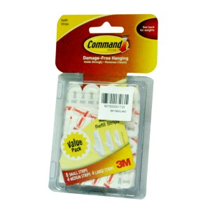 3M COMMAND ADHESIVE STRIPS ASSD.16PC