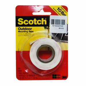 3M SCOTCH MOUNTING TAPE HD OD 1X50IN